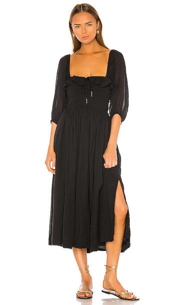 Free People Oasis Midi Dress in Black