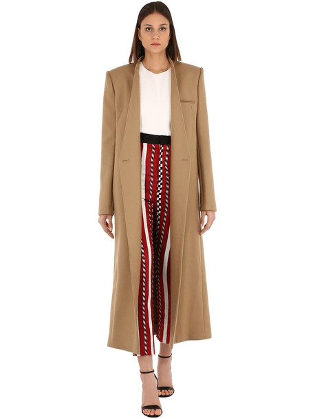 HAIDER ACKERMANN Double Breasted Wool Blend Coat in camel