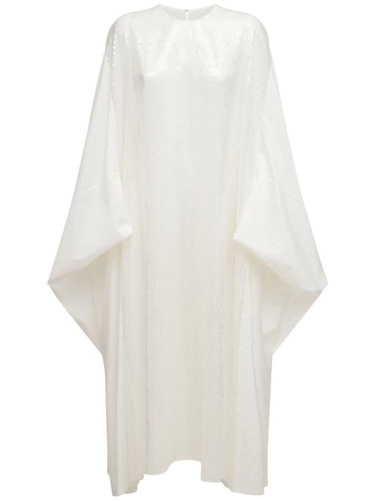 JUNYA WATANABE Organdy Sequined Ramie Dress in white
