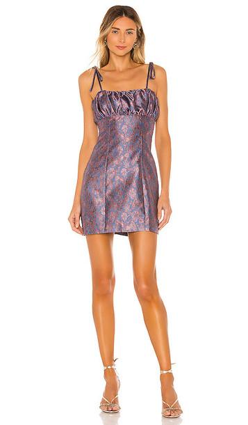 MAJORELLE Moira Mini Dress in Blue