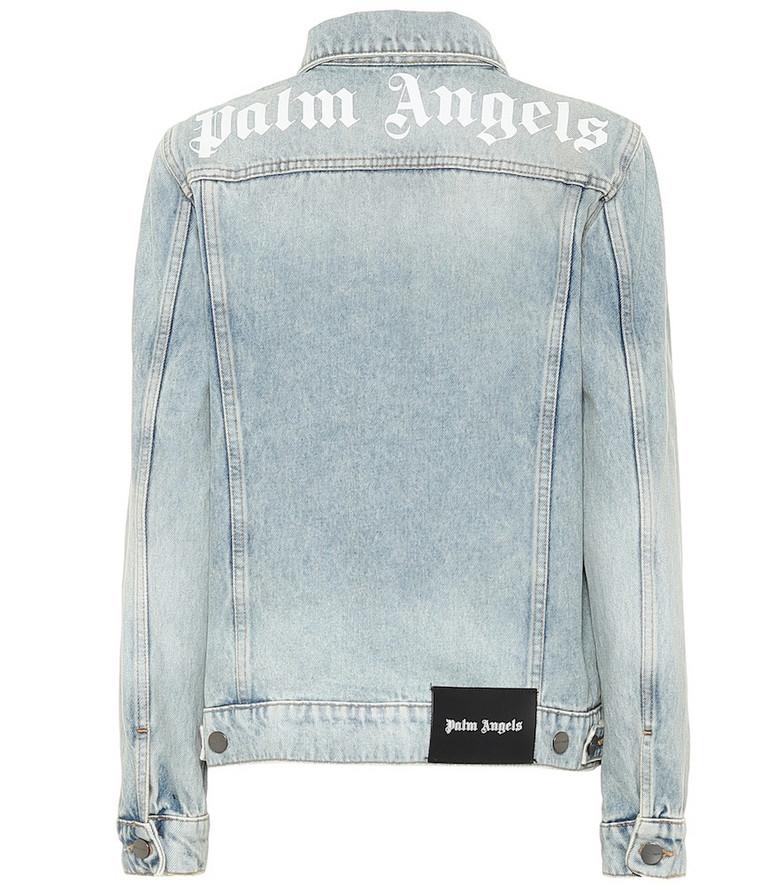 Palm Angels Logo denim jacket in blue