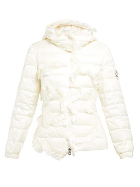 4 Moncler Simone Rocha - Ruffled Down Filled Hooded Jacket - Womens - Ivory