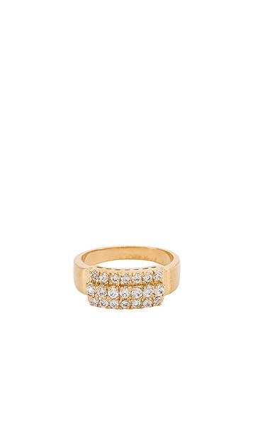 Vanessa Mooney Ginger Ring in Metallic Gold