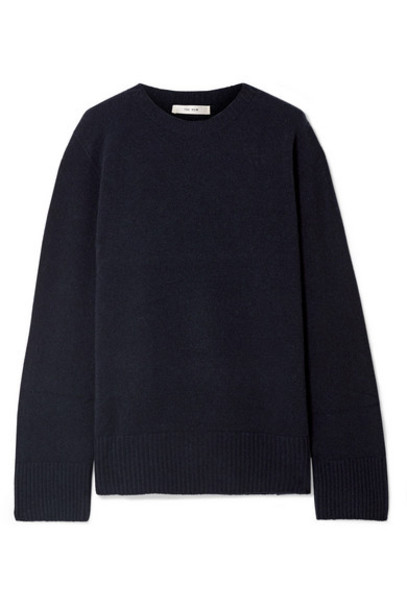 The Row - Sibel Oversized Wool And Cashmere-blend Sweater - Midnight blue