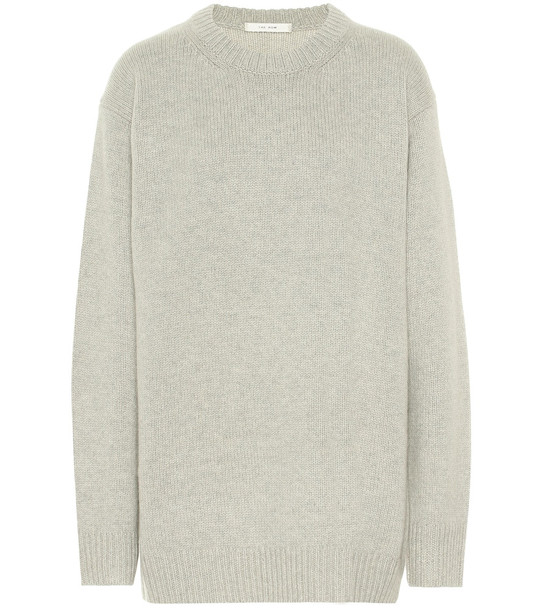 The Row Vaya cashmere sweater in grey