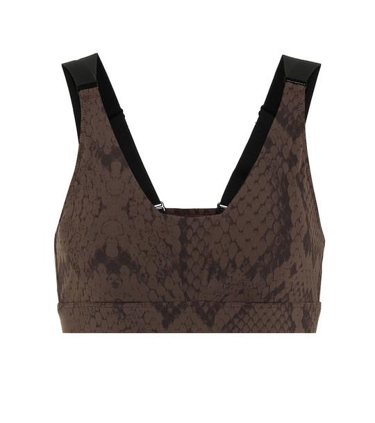 Varley Bromley sports bra in brown