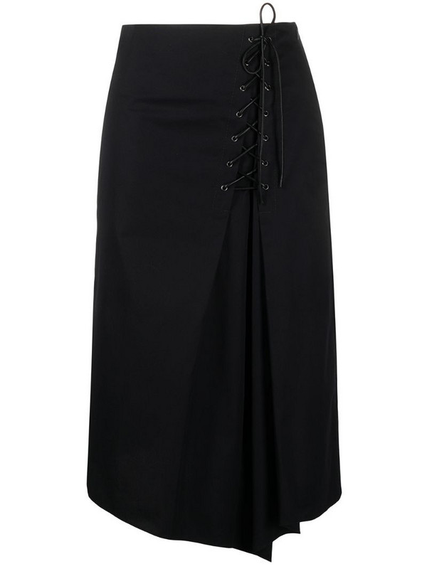 Dorothee Schumacher Sporty Power side-tie wrap skirt in black