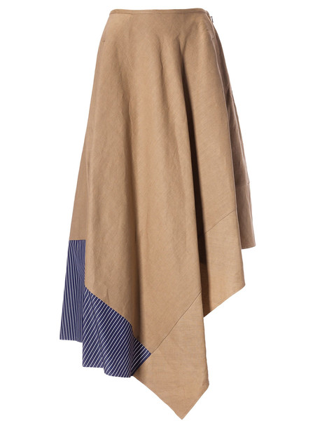 Loewe Asymmetric Skirt in blue / white / beige