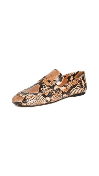 Joseph Snakeskin Loafers in brown