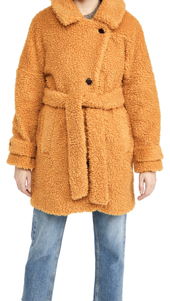 Alex Mill Sherpa Officer Peacoat in gold