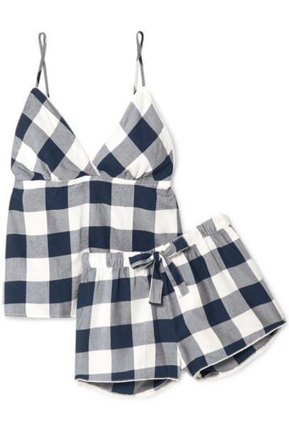 Rails - Checked Flannel Pajama Set - Midnight blue