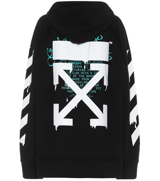 Off-White Logo cotton hoodie in black