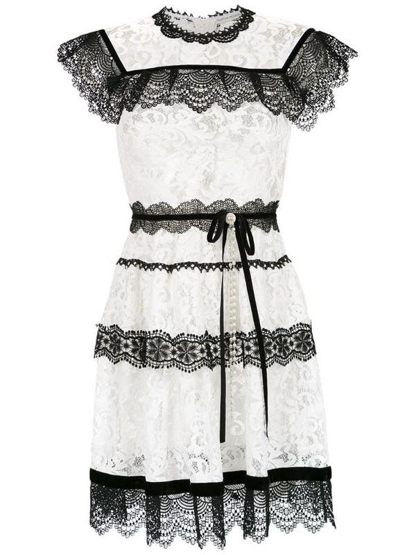Martha Medeiros Pitty lace dress in white