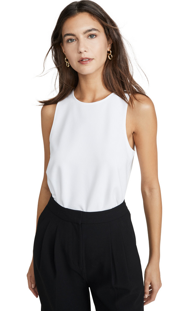 Tibi Tank with Twist Back Detail in white