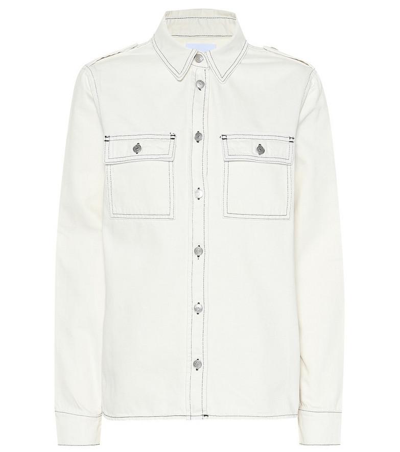 Ganni Denim shirt in white