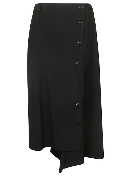 Ys Buttoned Skirt in black