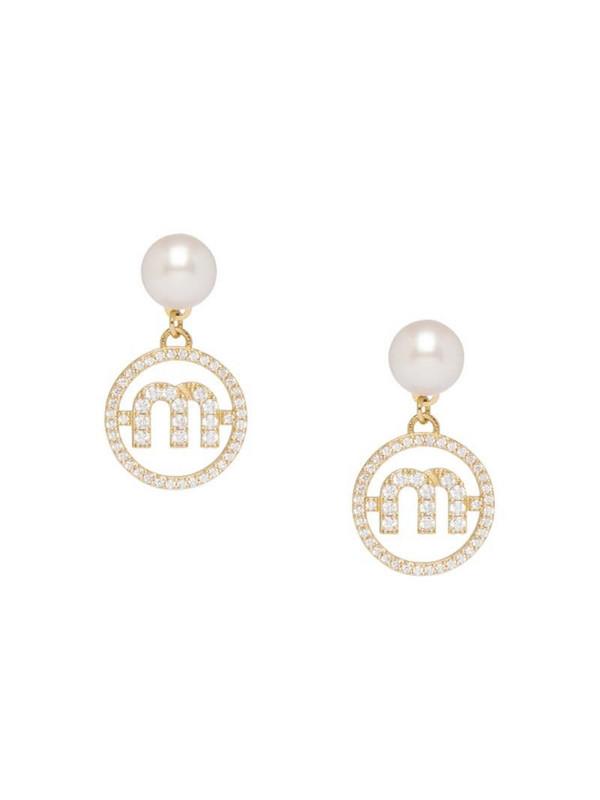 Miu Miu Miu Pearl earrings in white