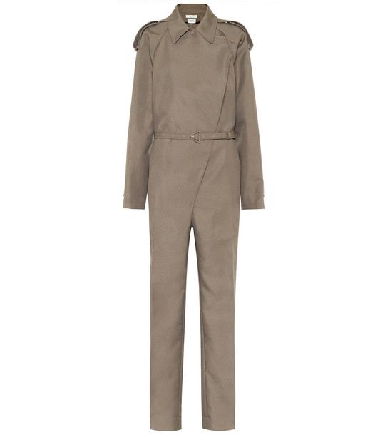 Bottega Veneta Twill jumpsuit in beige