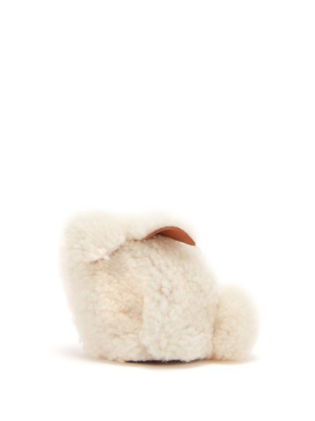 Loewe - Bunny Shearling Coin Purse - Womens - Cream