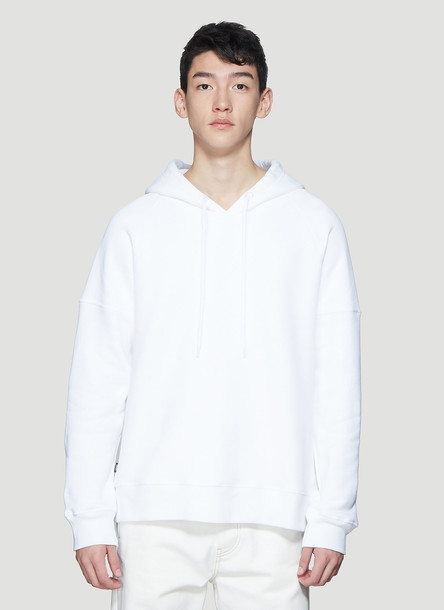 Dust Graphic Print Hooded Sweatshirt in White size L