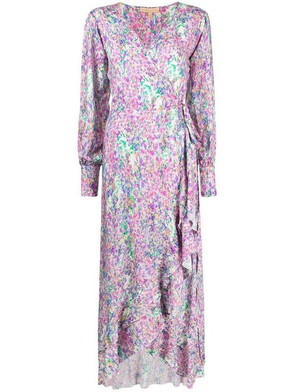Melissa Odabash floral-print long-sleeved maxi dress in purple