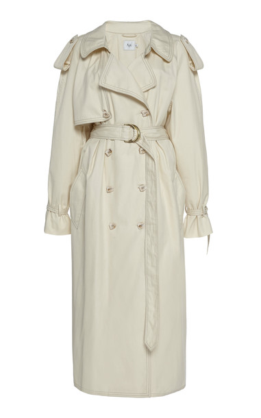 Aje Prima Pleat Trench Coat Size: 4 in neutral