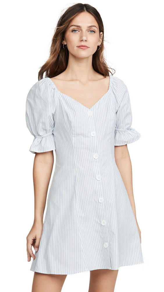 The Fifth Label Savannah Stripe Dress in blue / white