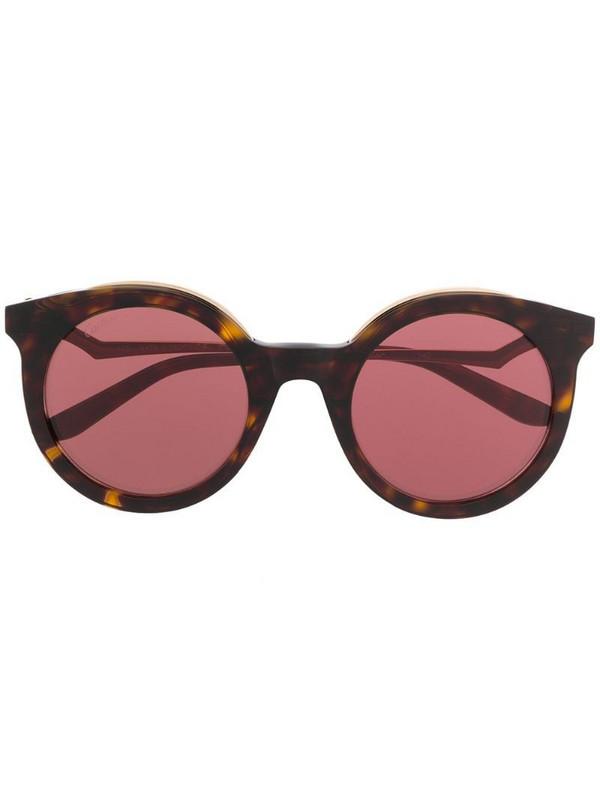 Cartier Eyewear Panthère de Cartier pantos-frame sunglasses in brown