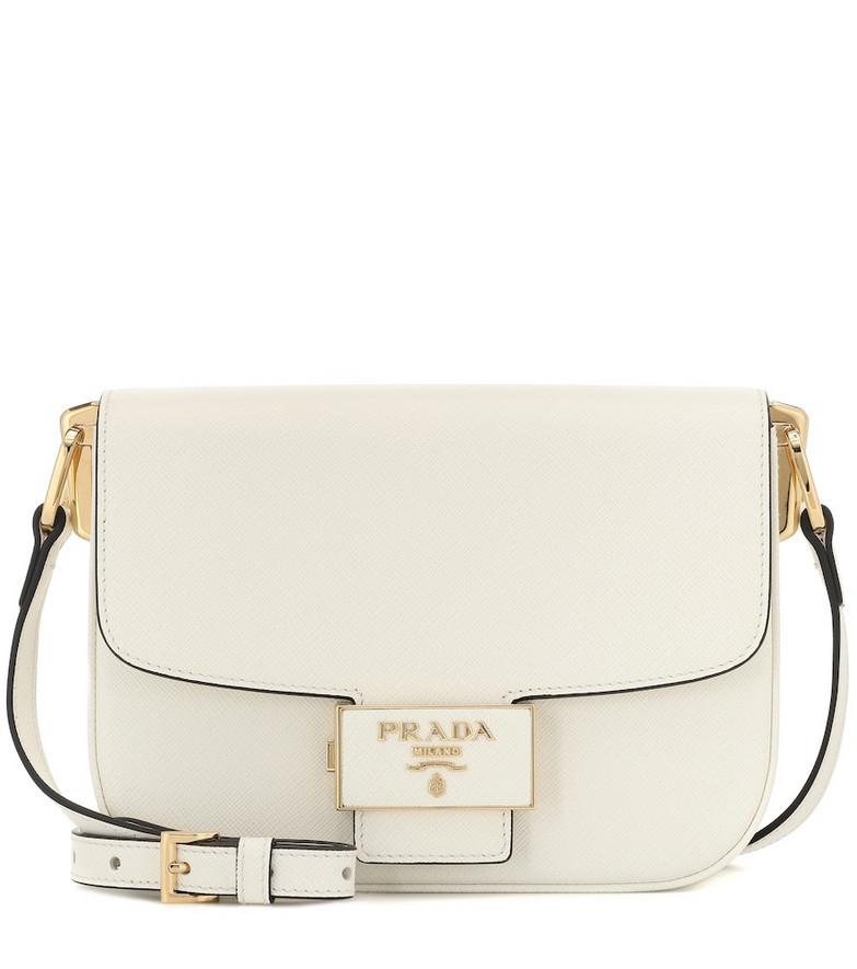 Prada Ensemble Small leather shoulder bag in white
