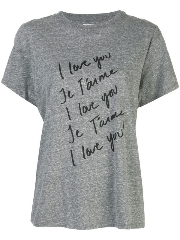 Cinq A Sept I Love You T-shirt in grey