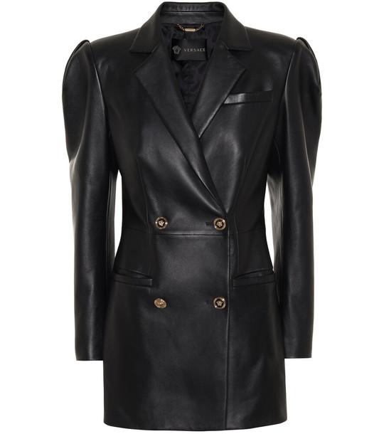 Versace Leather minidress in black
