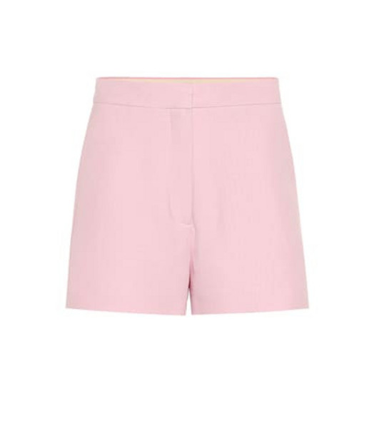 Valentino Wool and silk shorts in pink