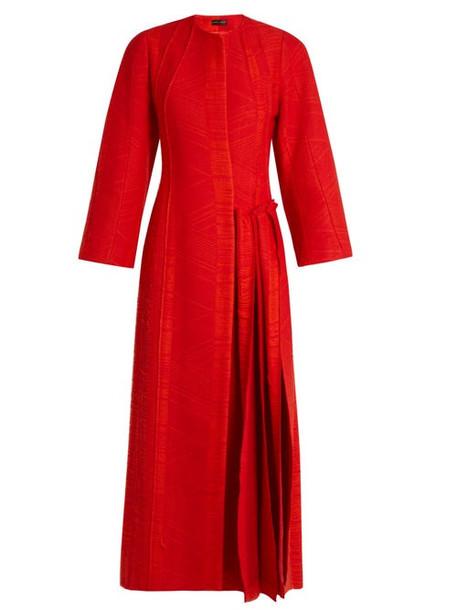 Carl Kapp - Flame Pleated Side Coat - Womens - Red