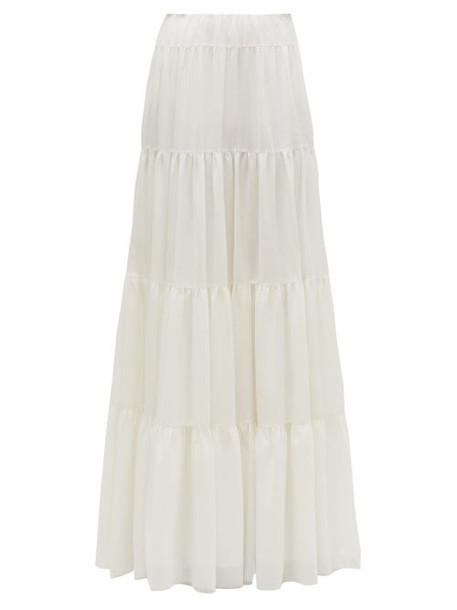 Gabriela Hearst - Mariela Tiered Gauze Maxi Skirt - Womens - Ivory