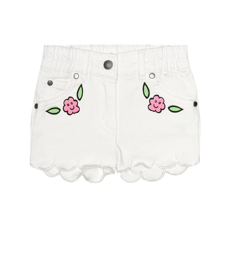 Stella McCartney Kids Baby stretch-denim shorts in white