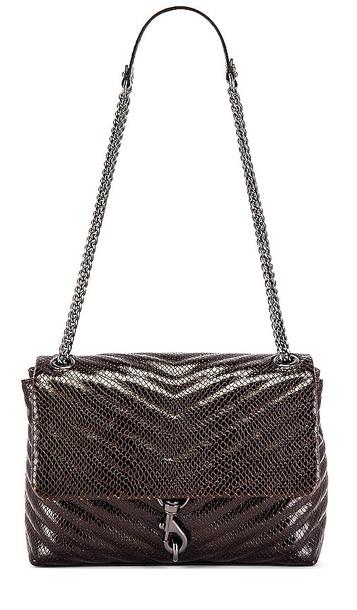 Rebecca Minkoff Edie Flap Shoulder Bag in Brown