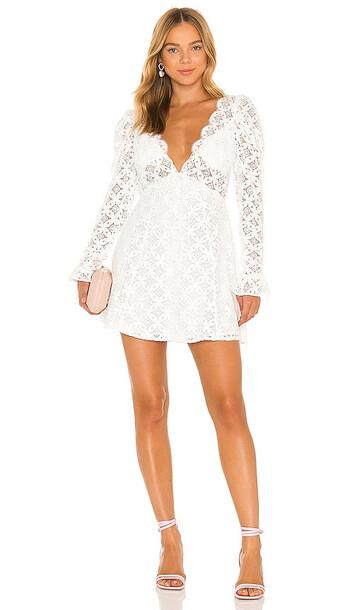For Love & Lemons Charmaine Mini Dress in White