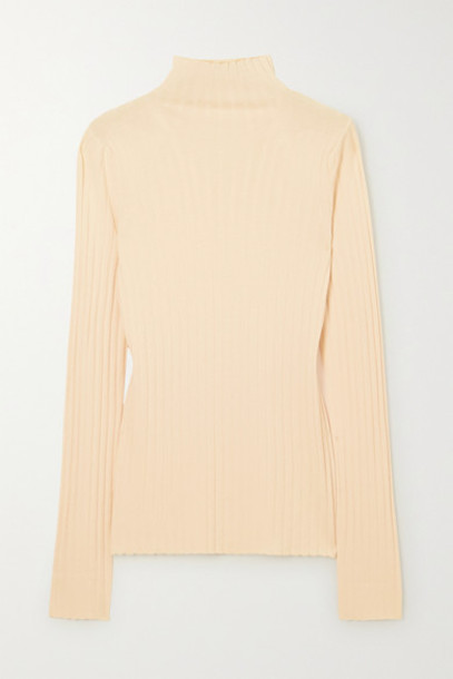 The Row - Bottani Ribbed Merino Wool And Cashmere-blend Sweater - Beige