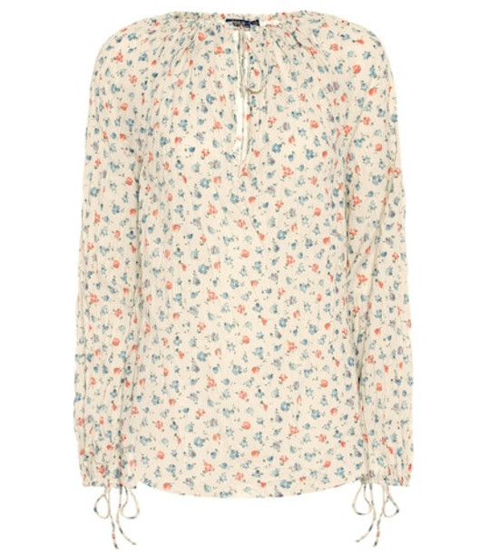 Polo Ralph Lauren Floral cotton blouse in white