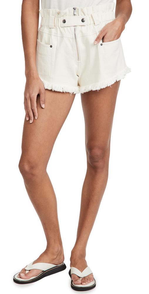 Sea Phillipa Denim Shorts in cream