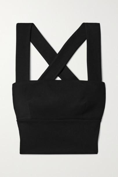 Rosetta Getty - Cropped Stretch-jersey Top - Black