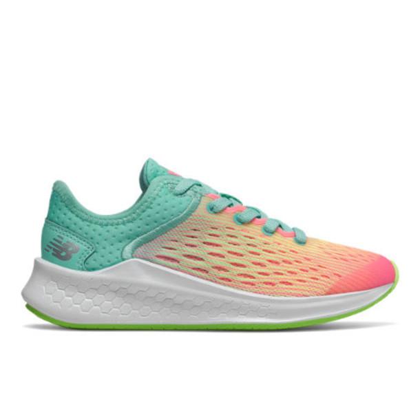 New Balance Fresh Foam Fast Kids Grade School Running Shoes - Pink/Green/Blue (YKFSTBL)