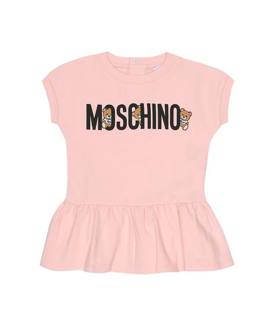 Moschino Kids Baby stretch-cotton dress in pink