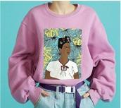 sweater,girl,girly,girly wishlist,pink,crewneck,crewneck sweater,jumper,tumblr