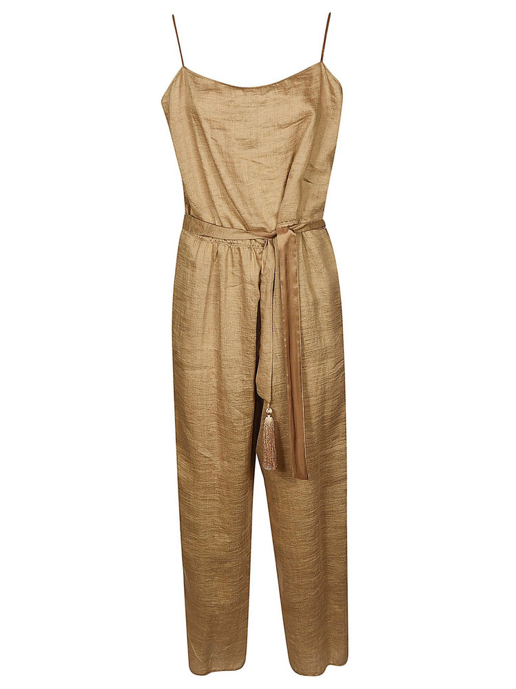 Forte Forte Loose Fit Jumpsuit in beige