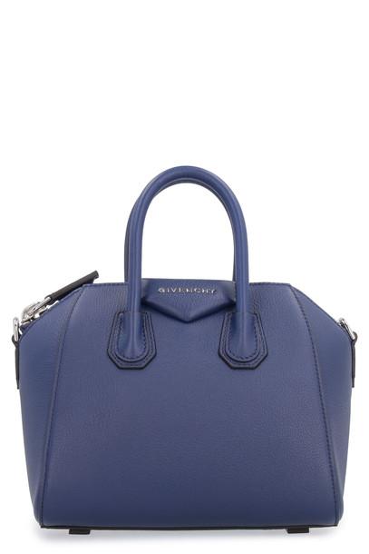 Givenchy Antigona Leather Handbag in blue