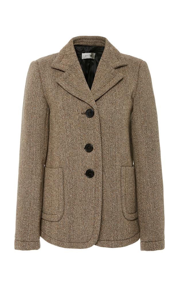 Wales Bonner Tweed Single-Breasted Wool-Blend Blazer Size: 40 in grey