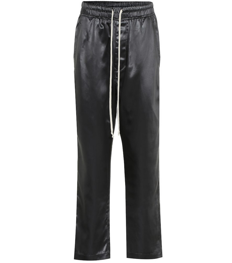 Rick Owens Faux leather sweatpants in black
