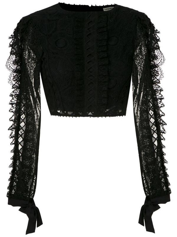 Martha Medeiros Ariella cropped top in black