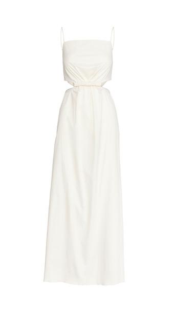 Johanna Ortiz White Sand Maxi Dress